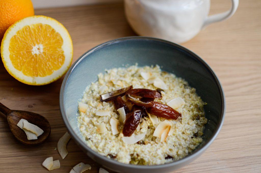 Reisporridge als warmes Frühstück nach TCM