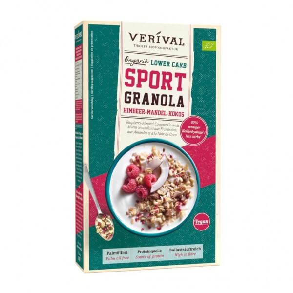 Lower Carb Sport Granola framboises-amandes-noix de coco