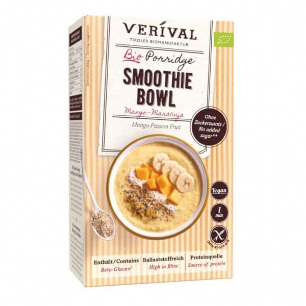Porridge Smoothie Bowl aux mangues et fruits de la passion