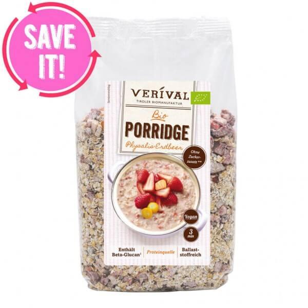 Physalis-Erdbeer Porridge