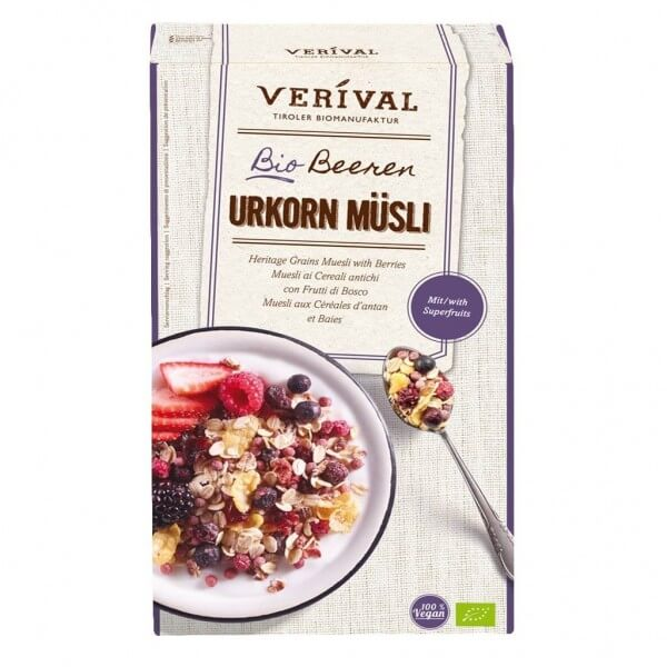 Verival Muesli aux céréales d'antan et baies 325g