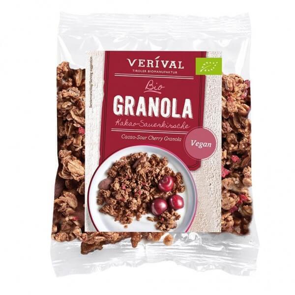 Verival Muesli croustillant aux Cacao et á la Griotte 45 g